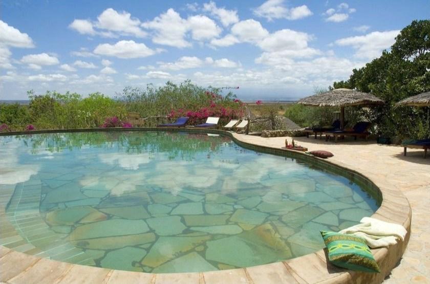 Kia Lodge, Arusha, Tanzanie, piscine