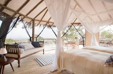 Lamai camp   serengeti tanzanie   interieur tente listing