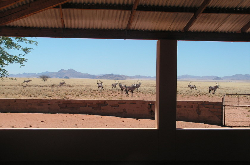 The Hideout, NamibRand, Namibie, véranda