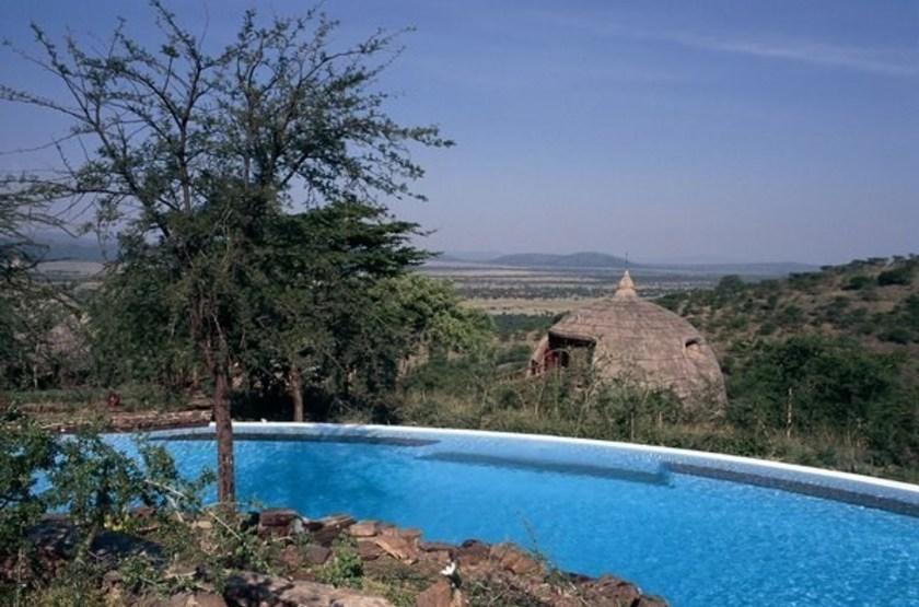 Serengeti Serena Lodge, Tanzanie, piscine