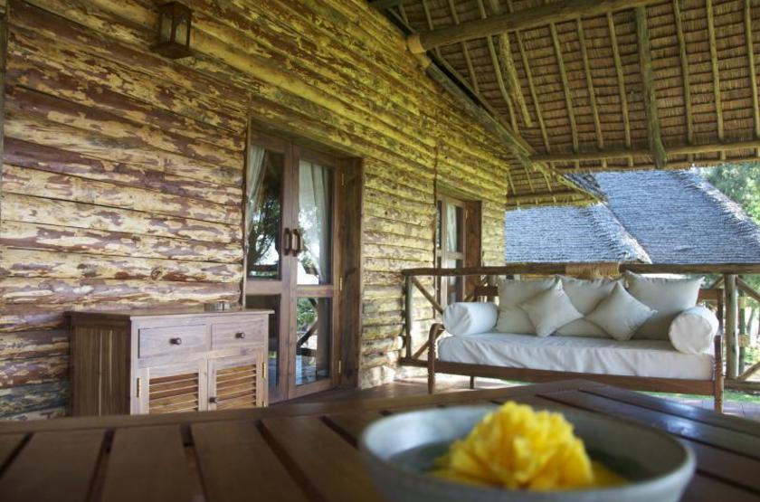 Neptune Ngorongoro Lodge, Tanzanie, extérieur terrasse