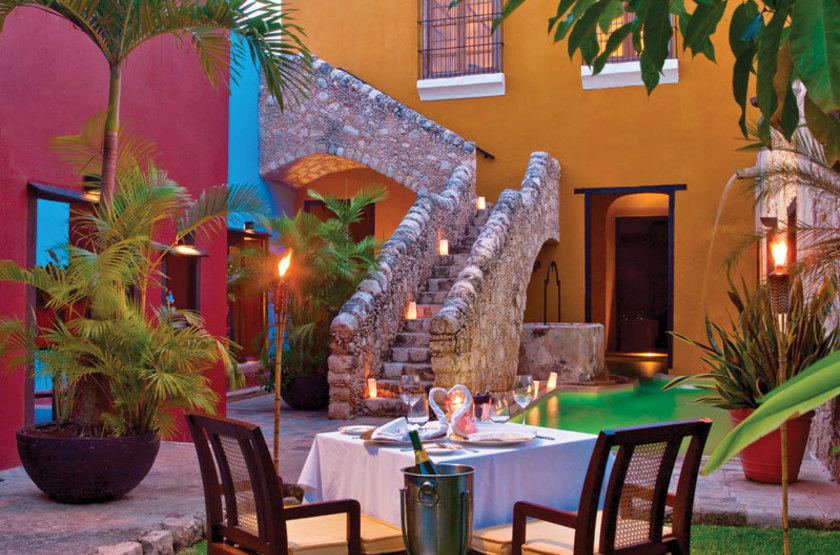 Puerta Campeche Hacienda, Campeche, Mexique, patio