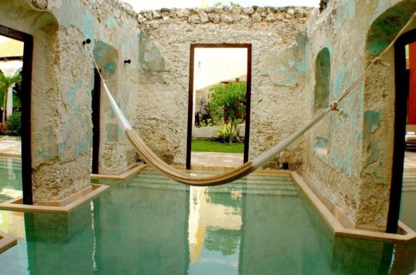 Puerta Campeche Hacienda, Campeche, Mexique, piscine