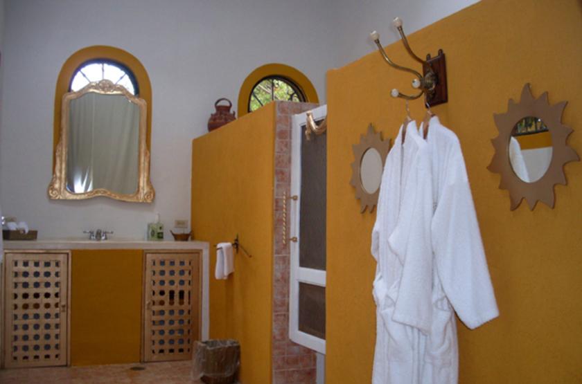 Santa Cruz Hacienda, Mérida, Mexique, salle de bains