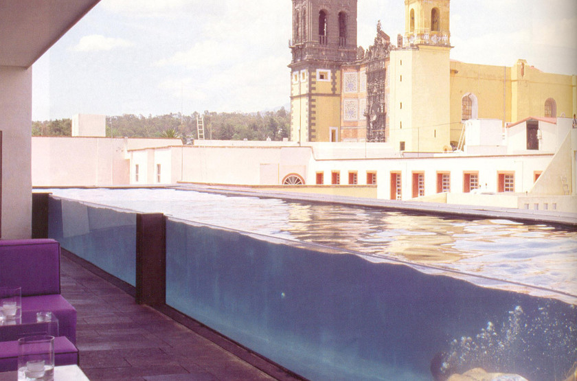 La Purificadora Hotel, Mexique, piscine