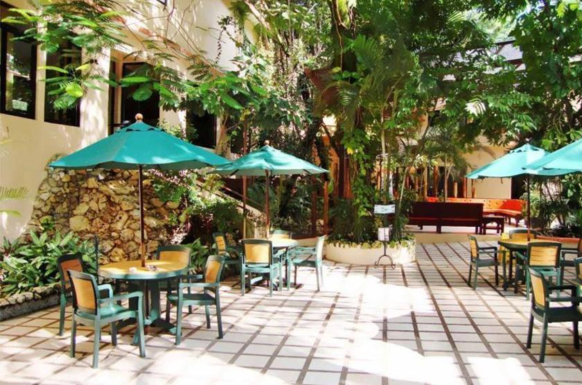 Hotel Maya Tulipanes, Palenque, Mexique, terrasse