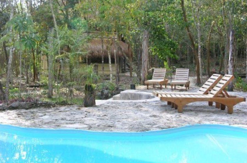 Puerta Calakmul, Campheche, Mexique, piscine