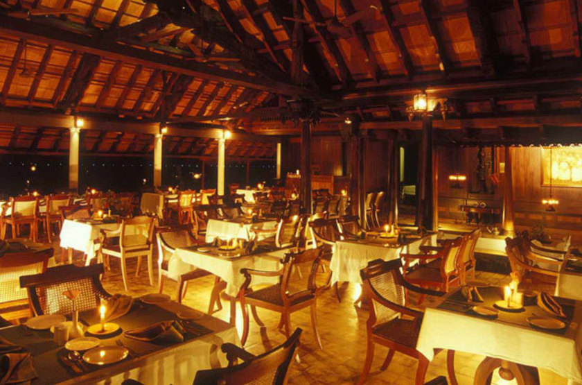 Kumarakom Lake Resort, Kottayam, Inde, restaurant