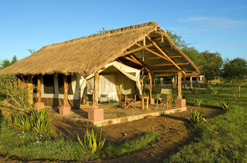 Ikoma bush camp   exterieur tente 2 slideshow