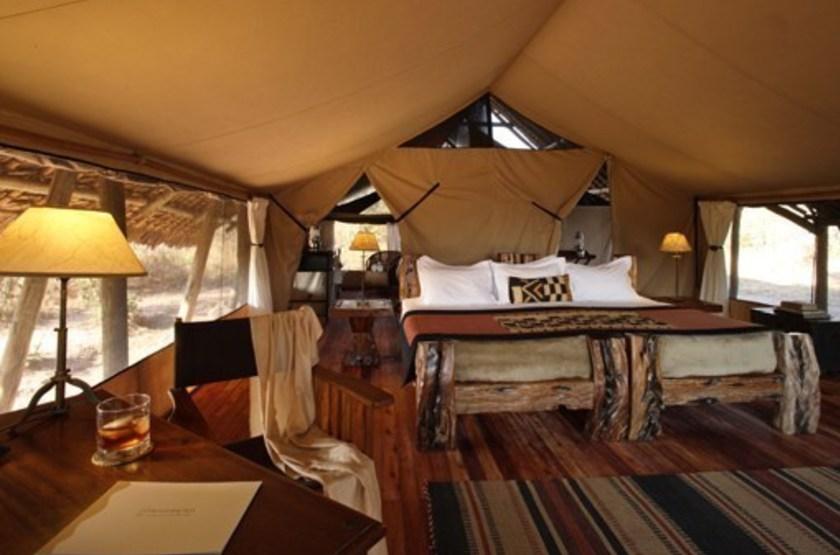 Jongomero Camp, parc de Ruaha, Tanzanie, chambre