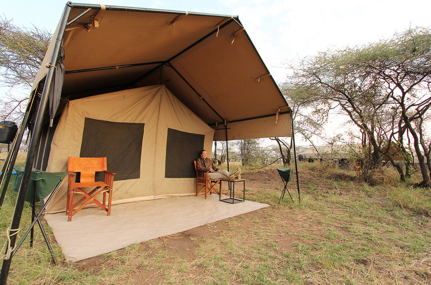 Kati Kati Camp, Serengeti, Tanzanie, tente