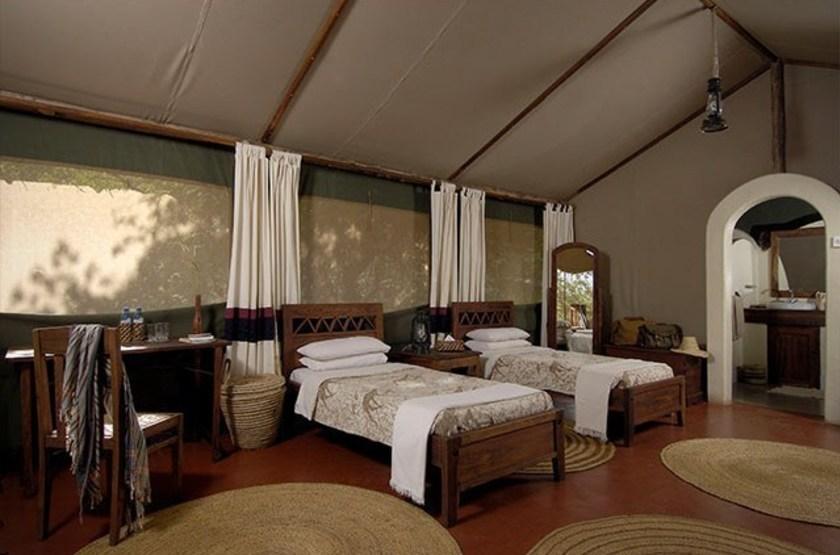 Kirurumu Manyara Lodge, Tanzanie, intérieur tente