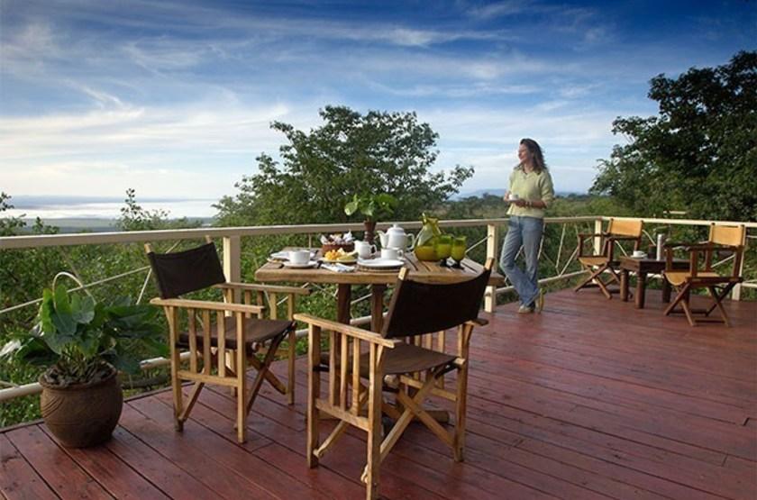 Kirurumu Manyara Lodge, Tanzanie, terrasse