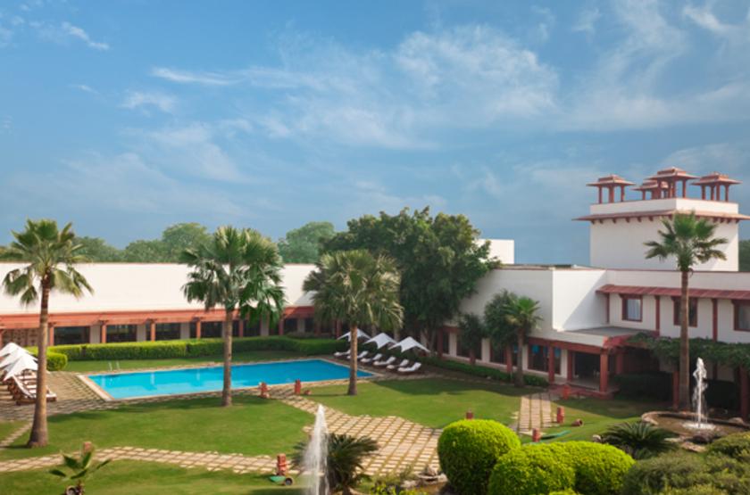 Trident Hôtel Agra, Inde, piscine