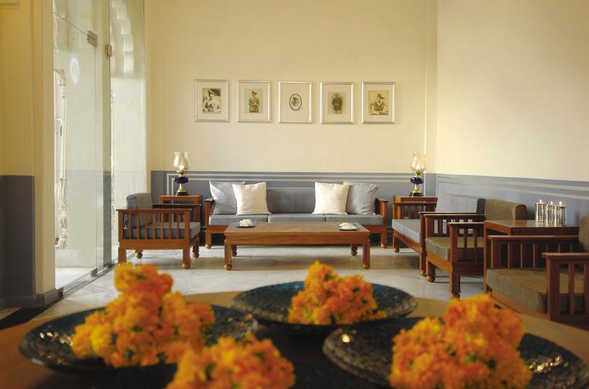 Usha Kiran Palace, Gwalior, Inde, lobby