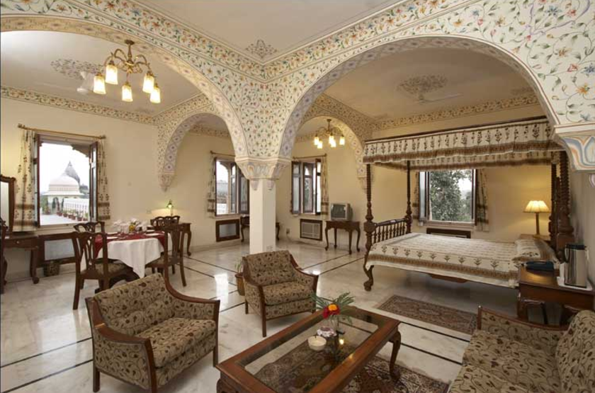 Amar Mahal, Khajuharo, Inde, chambre