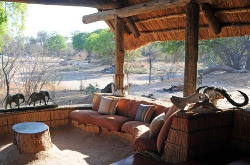Mwagusi safari Camp, Ruaha, Tanzanie, terrasse