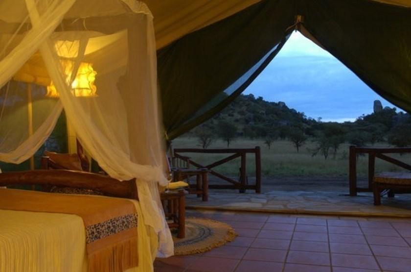 Mbuzi Mawe Camp, Serengeti, Tanzanie, terrasse