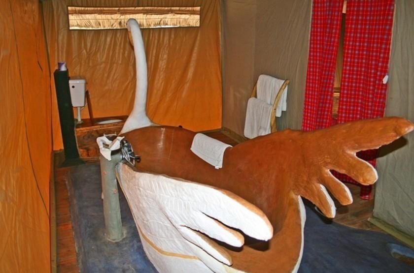 Roika Tarangire Tented Lodge, Tanzanie, salle de bains
