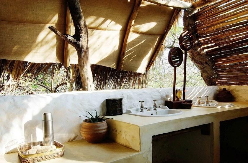 Sand Rivers, Reserve de Selous, Tanzanie, salle de bains