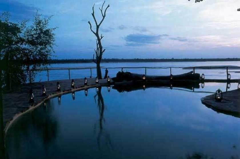 Sand Rivers, Reserve de Selous, Tanzanie, piscine