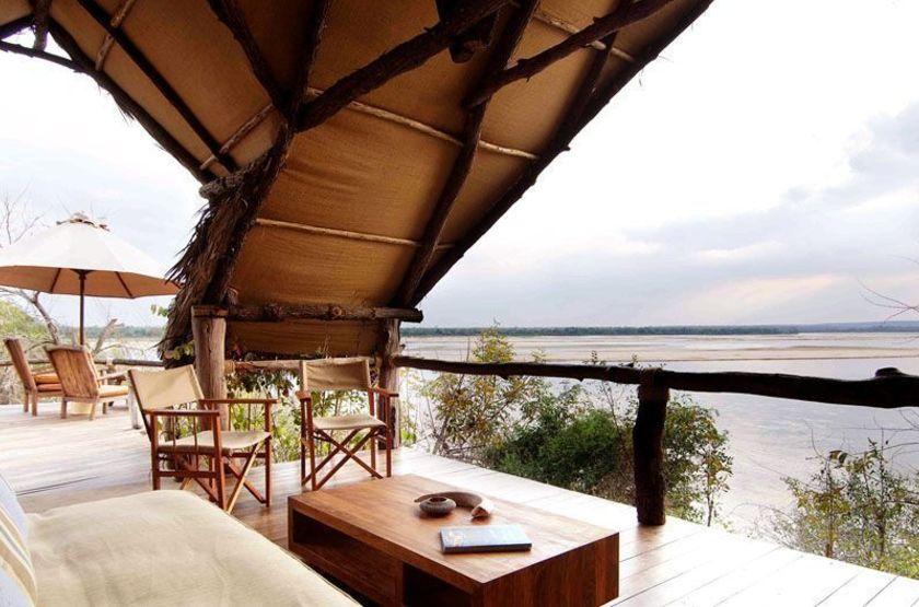 Sand Rivers, Reserve de Selous, Tanzanie, terrasse