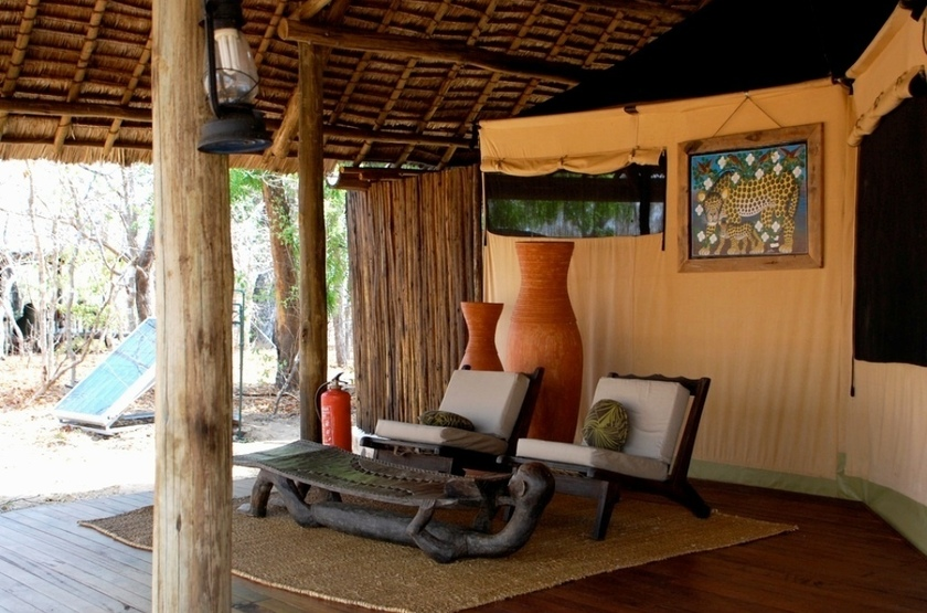 Siwandu Camp, Selous, Tanzanie, salon