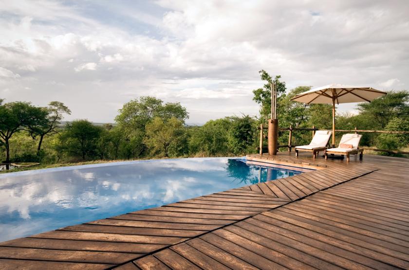 Tarangire Treetops, Concession privée, Tanzanie, piscine