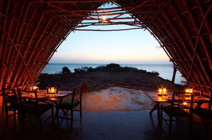 Chumbe Island Coral Park, Ile privée, Zanzibar, restaurant