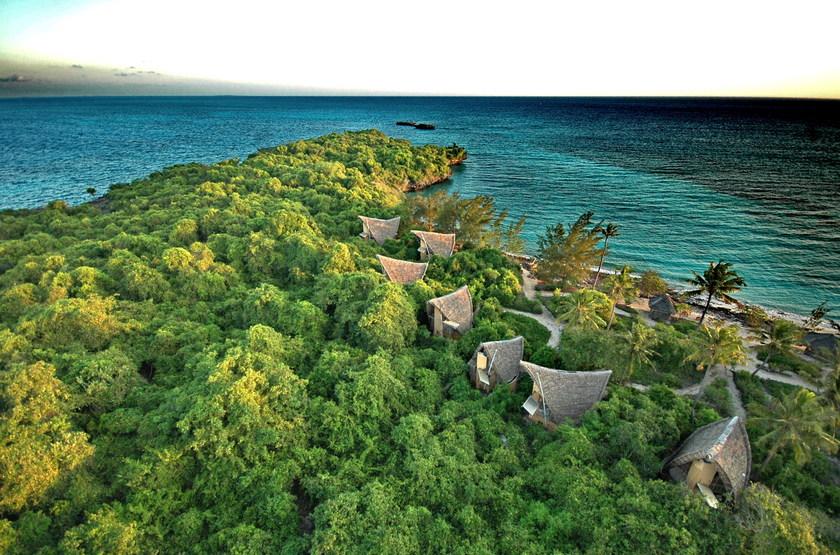 Chumbe Island Coral Park, Ile privée, Zanzibar, vue aériene