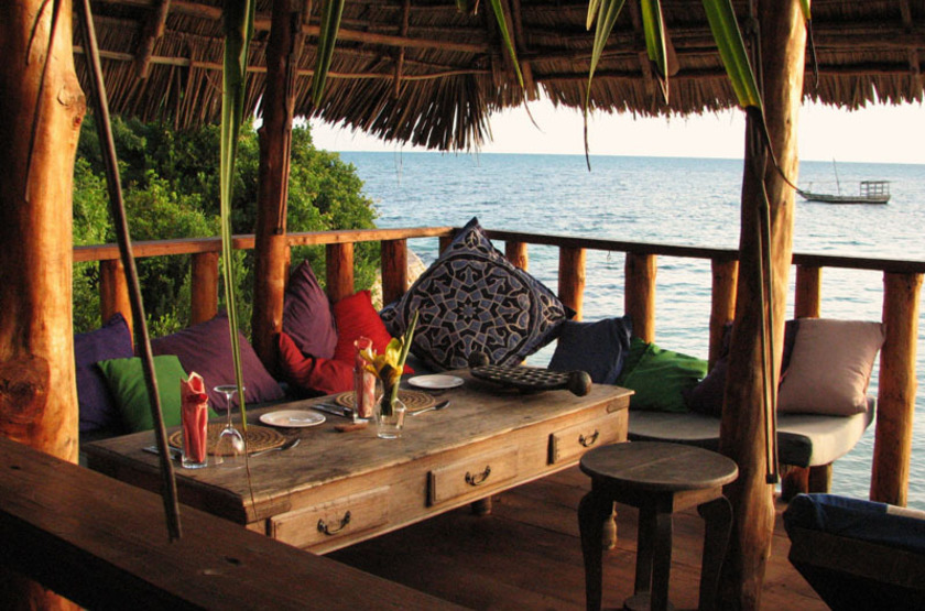 Fumba Beach Lodge, Menai Bay, Zanzibar, terrasse