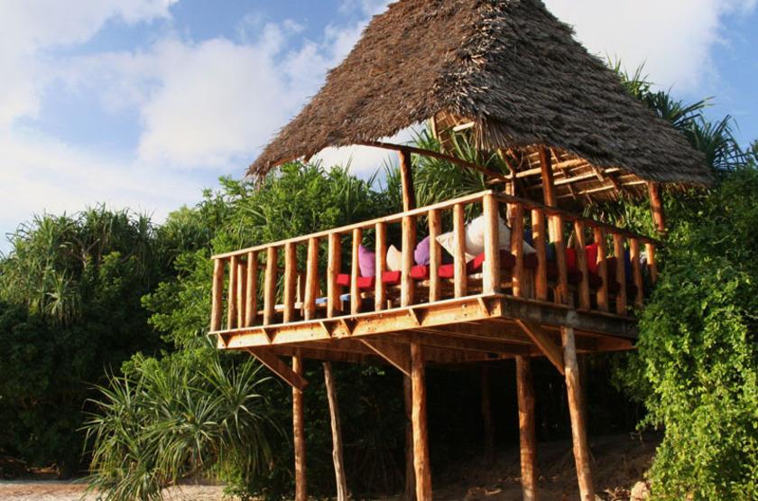 Fumba Beach Lodge, Menai Bay, Zanzibar, bungalow sur pilotis