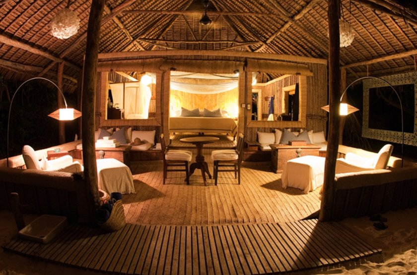 Mnemba island lodge de nuit slideshow