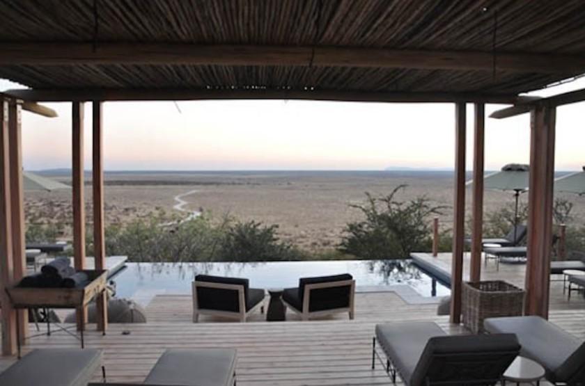 Dolomite Camp, Parc Etosha Ouest, Namibie, terrasse