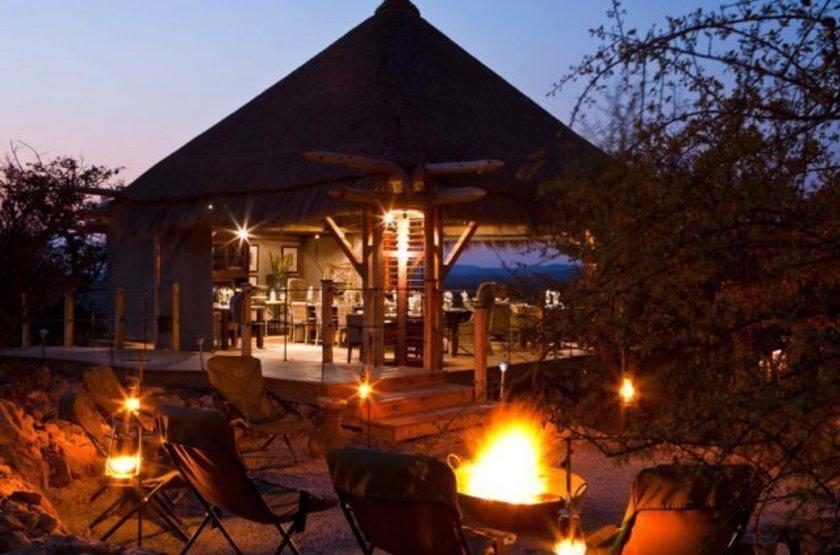 Dolomite Camp, Parc Etosha Ouest, Namibie, restaurant