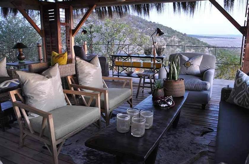 Dolomite Camp, Parc Etosha Ouest, Namibie, salon