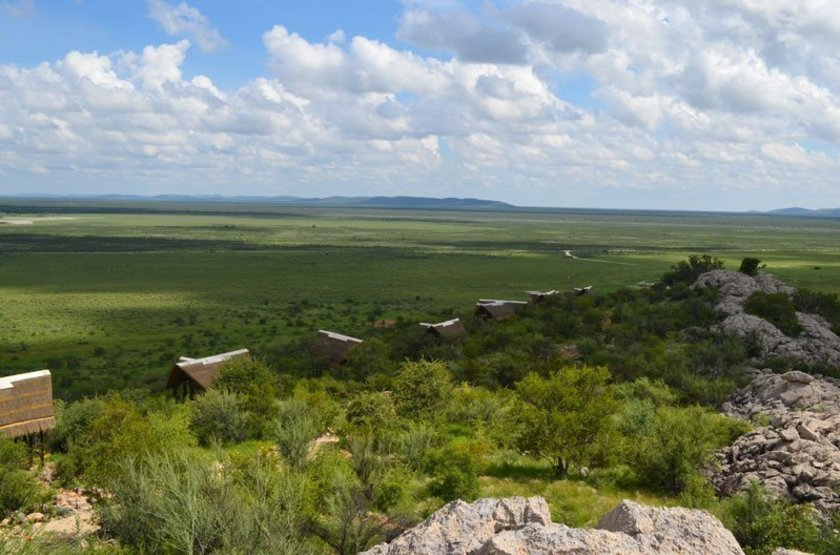 Dolomite Camp, Parc Etosha Ouest, Namibie, emplacement