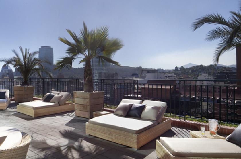 Ritz Carlton, Santiago, Chili, terrasse