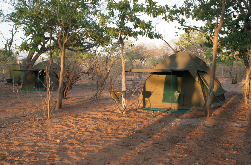 Kazuma Trails, Safari semi luxury, Botswana, tente