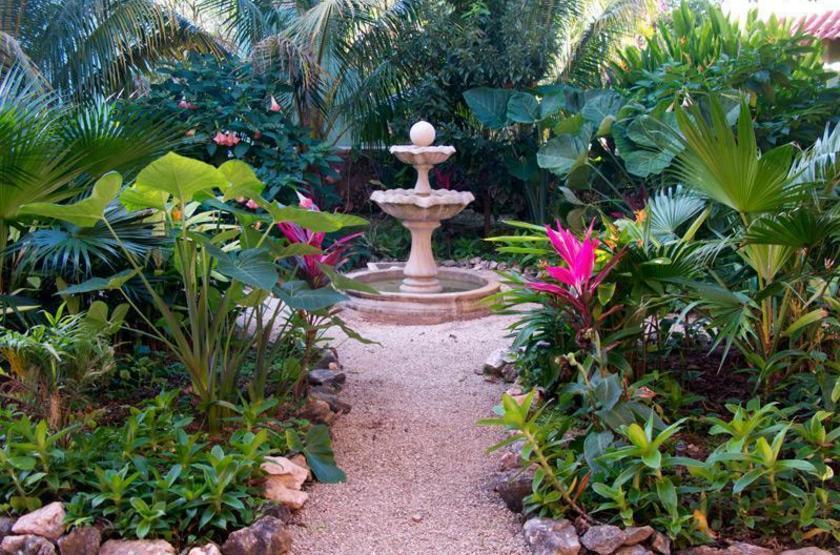 Macanché B&B, Izamal, Mexique, jardins