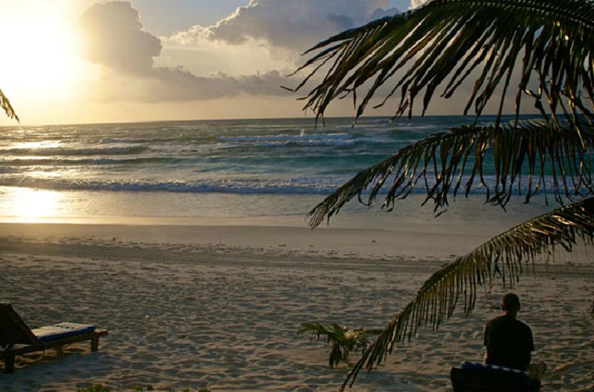 Cabanas Los Lirios, Tulum, Mexique, plage