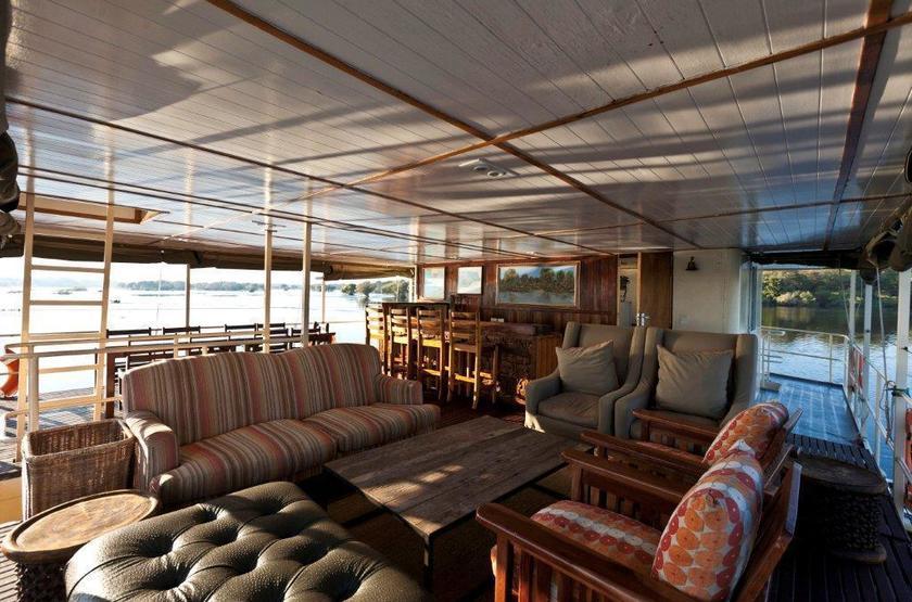 Botswana   chobe river   ichobezi safari boat   lounge slideshow