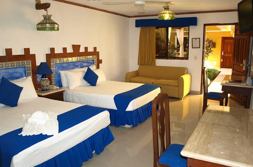 Hotel Las Golondrinas, Playa Del Carmen, Mexique, chambre