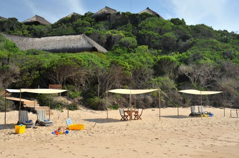 Machangulo Beach Lodge, Santa Maria, Mozambique, plage
