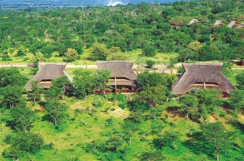 Lokothula Lodge, Victoria Falls, Zimbabwe, vue d'ensemble