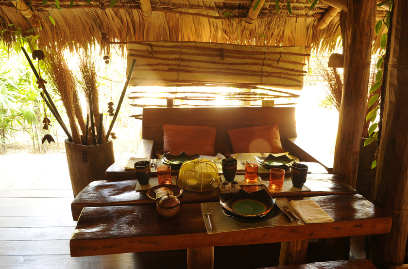 Iharana bush camp  tsingy de l ankarana   madagascar   restaurant slideshow