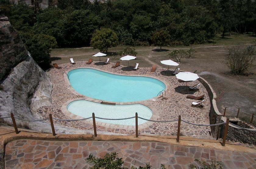 Relais de la Reine, Ranohira, Madagascar, piscine