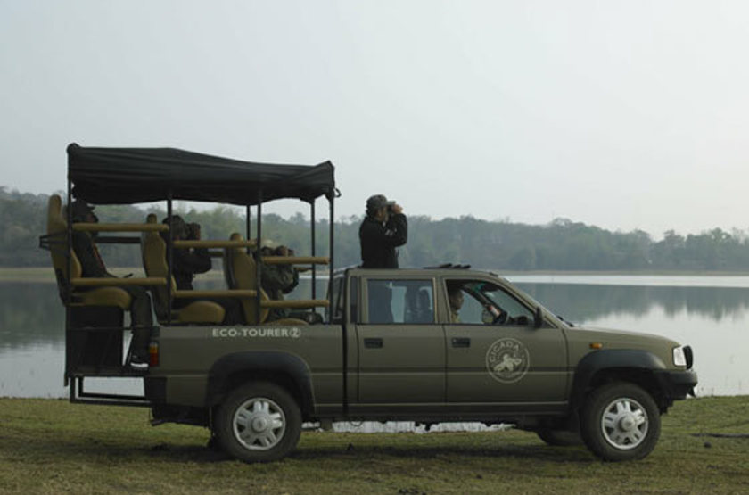 The Cicada Resort, Kabini, Inde, safari en jeep