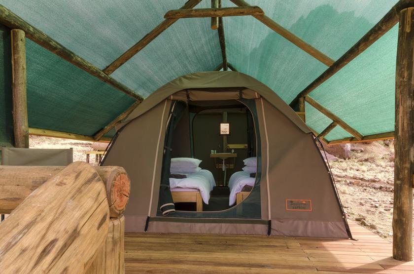 Kulala Adventurer Camp, Sossusvlei, Namibie, extérieur tente