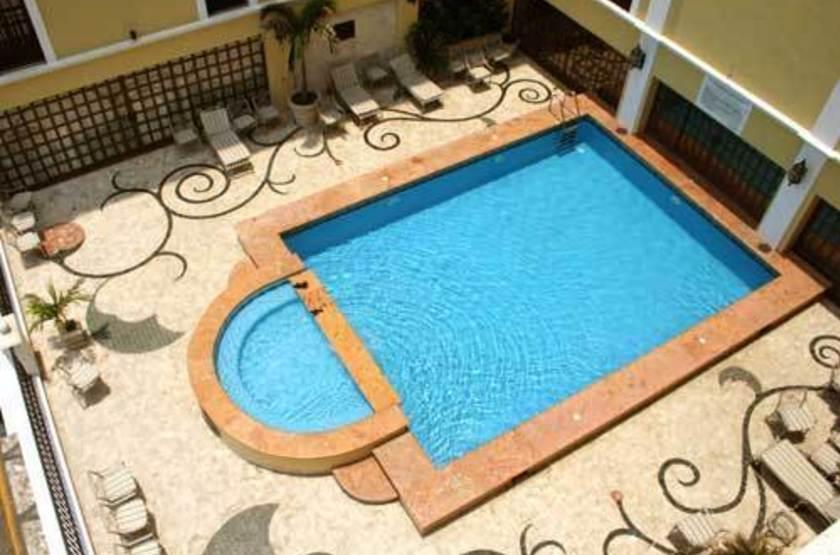 Gran Hotel Diligencias, Veracruz, Mexique, piscine